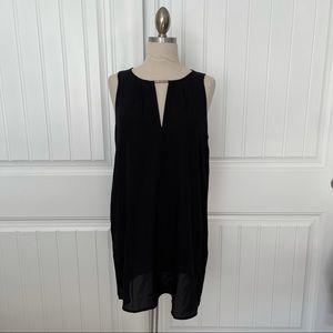 Forever 21 Black Trapeze Mini Dress